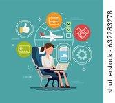 vector concept design on woman... | Shutterstock .eps vector #632283278