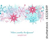 winter seamless background | Shutterstock .eps vector #63228349