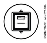 Electric Meter Icon. Thin...
