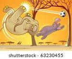 elephant and hippopotamus... | Shutterstock .eps vector #63230455
