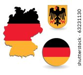 The Germany Flag And Map On A...