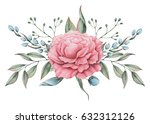 hand painted watercolor... | Shutterstock . vector #632312126