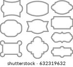 vector set vintage labels and... | Shutterstock .eps vector #632319632