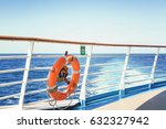 cruise ship upper deck with...   Shutterstock . vector #632327942