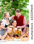 in beer garden   friends in... | Shutterstock . vector #632339645
