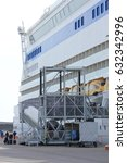 Small photo of IJmuiden, the Netherlands - April 30th, 2017: Aida Sol passengers boarding the ship