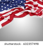 closeup of american flag on... | Shutterstock . vector #632357498