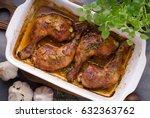 garlic rosemary chicken  baked... | Shutterstock . vector #632363762