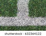 artificial green grass  with... | Shutterstock . vector #632364122