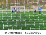 behind goal of soccer field.... | Shutterstock . vector #632364992