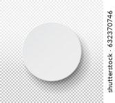 realistic 3d white blank... | Shutterstock .eps vector #632370746