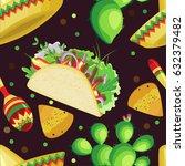 vector seamless pattern on the... | Shutterstock .eps vector #632379482