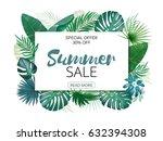 illustration of various exotic... | Shutterstock .eps vector #632394308