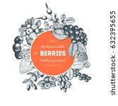 berries hand drawn vector... | Shutterstock .eps vector #632395655