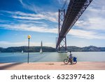 ponte 25 de abril  lisbon  ... | Shutterstock . vector #632397428