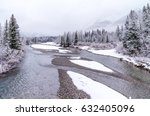 Cold Mountain River In Winter