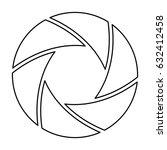 shutter camera symbol | Shutterstock .eps vector #632412458