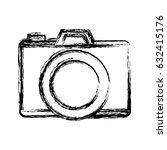 photographic camera icon | Shutterstock .eps vector #632415176