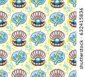 sea travel seamless background... | Shutterstock .eps vector #632415836