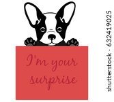 cute and funny cartoon  puppy...   Shutterstock .eps vector #632419025