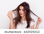 close up portrait of frustrated ... | Shutterstock . vector #632424212