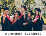 successful excited five... | Shutterstock . vector #632428652