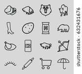 brown icons set. set of 16... | Shutterstock .eps vector #632431676