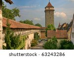 Small photo of The tower and the vallum in town Rothenburg ob der Taube, Germany