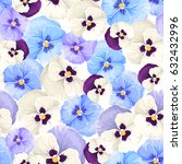 vector seamless pattern with... | Shutterstock .eps vector #632432996