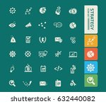 strategy icon set clean vector | Shutterstock .eps vector #632440082