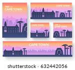 set of cape town landscape... | Shutterstock .eps vector #632442056