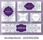 geometric abstract vector... | Shutterstock .eps vector #632442206