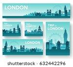 set of england landscape... | Shutterstock .eps vector #632442296