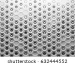 white polygonal hexagonal... | Shutterstock . vector #632444552