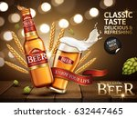 classic beer ad contained in... | Shutterstock . vector #632447465