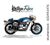 vintage motorcycle poster | Shutterstock .eps vector #632451476