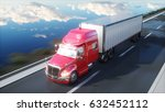 semi trailer  truck on the road ... | Shutterstock . vector #632452112