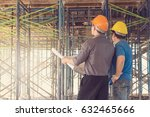 construction concepts  engineer ... | Shutterstock . vector #632465666