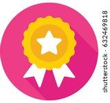 ribbon badge vector icon   Shutterstock .eps vector #632469818
