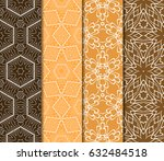 set of seamless pattern.... | Shutterstock .eps vector #632484518