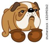boxer breed dog vector... | Shutterstock .eps vector #632490362