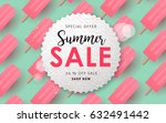 summer sale background layout...   Shutterstock .eps vector #632491442