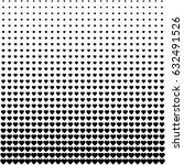 heart shape half tone pattern... | Shutterstock .eps vector #632491526
