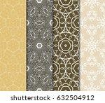 set of seamless pattern.... | Shutterstock .eps vector #632504912