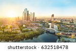 sunrise over moscow city... | Shutterstock . vector #632518478