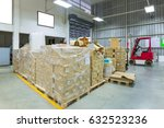 large modern warehouse with...   Shutterstock . vector #632523236