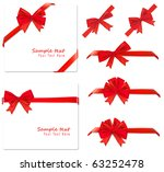 collection of red bows. vector. | Shutterstock .eps vector #63252478
