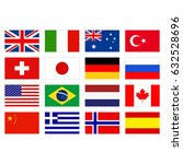 vector illustration of flags of ... | Shutterstock .eps vector #632528696