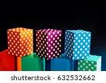 Abstract Colorful Polka Dots...