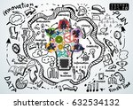 plan businessman and lady...   Shutterstock .eps vector #632534132